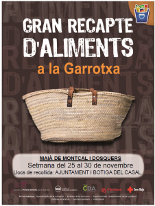 Cartell recollida aliments